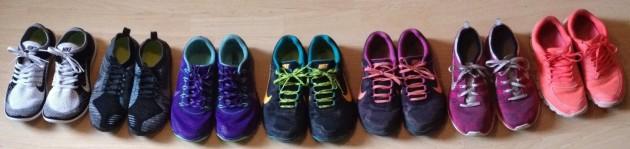From Left to Right: Nike Free Flyknit 4.0, Nike Free Hyperfeel, Nike Zoom Terra Kiger, Nike Zoom Wildhorse x2, Nike Flyknit One & Nike Free 5.0